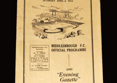 Middlesbrough Res v Blyth 03.04.1953 | Middlesbrough Res v Stockton 04.04.1953