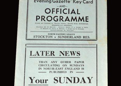 Stockton v Sunderland Res 10.09.1955