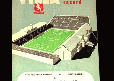 Aston Villa v Burnley 02.04.1955 3-1