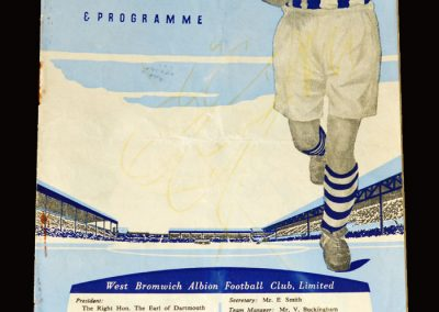 West Brom Res v Blackpool Res 02.04.1955 | West Brom Youth v Stoke Youth 02.04.1955