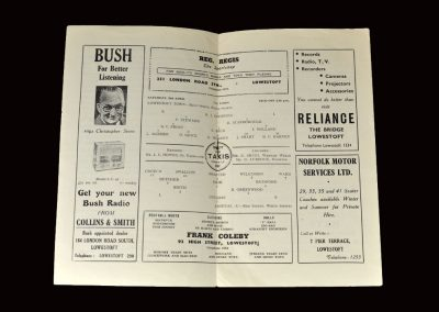 "Lowestoft v Arsenal ""A"" 02.04.1955"
