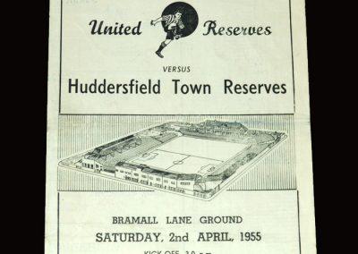 Sheff Utd Res v Huddersfield Res 02.04.1955