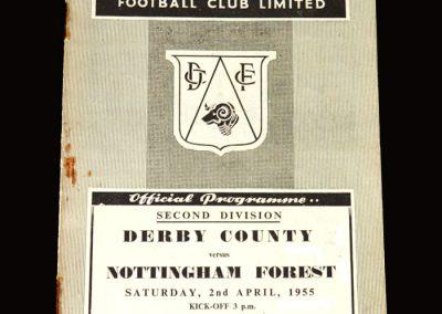 Derby v Notts Forest 02.04.1955 1-2