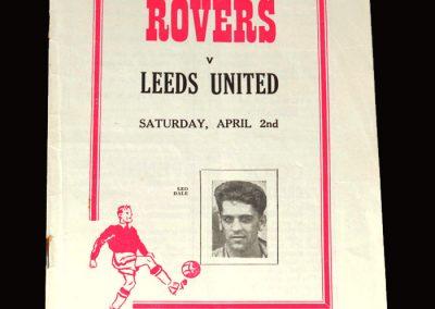 Doncaster Rovers v Leeds 02.04.1955 0-1