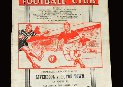 Liverpool v Luton 02.04.1955 4-4
