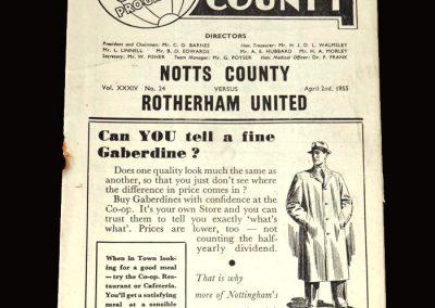 Notts County v Rotheram 02.04.1955 3-2