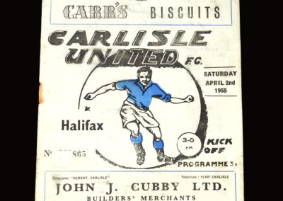 Carlisle v Halifax Town 02.04.1955 4-0