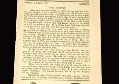 Darlington v Barnsley 02.04.1955 0-1