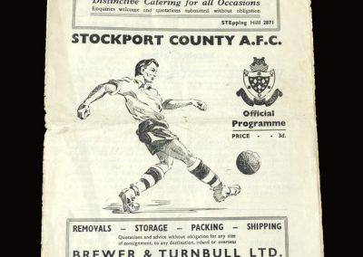 Stockport v Accrington St 02.04.1955 0-0