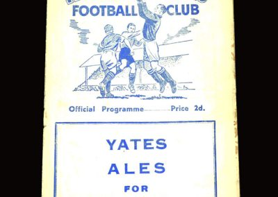 Tranmere Rovers v Mansfield 02.04.1955 2-1