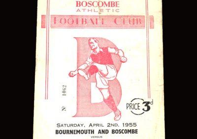 Bournemouth v Walsall 02.04.1955 1-1