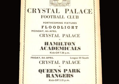 Crystal Palace v Brighton and Hove Albion 02.04.1955 1-0