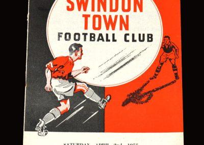 Swindon Town v Brentford 02.04.1955 1-1