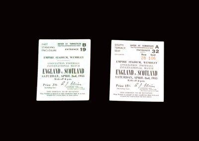 England v Scotland 02.04.1955 (tickets)
