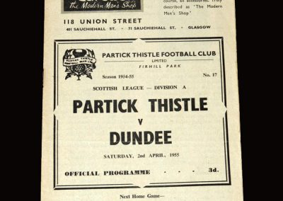 Partick Thistle v Dundee 02.04.1955 2-1