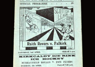Raith Rovers v Falkirk 02.04.1955 3-0
