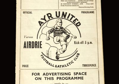 Ayr United v Airdrieonians 02.04.1955 3-2