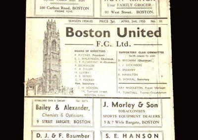 Boston v Gainsborough 02.04.1955