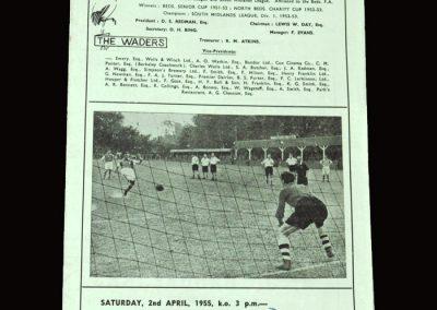 Biggleswade v Holbeach Utd 02.04.1955