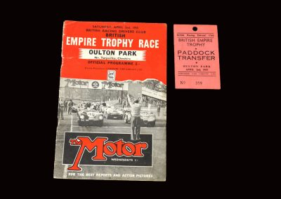 Oulton Park Empire Trophy 02.04.1955 (Blakely and Ruth Ellis)