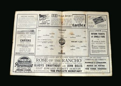 Probables v Possibles (England Trial) 25.03.1936