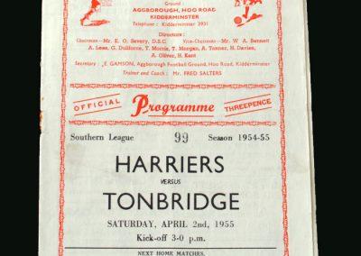 Kidderminster v Tonbridge 02.04.1955