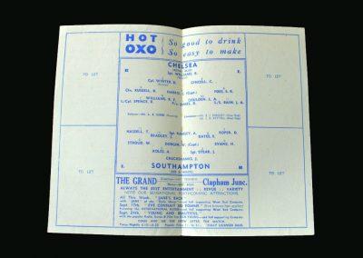 Chelsea v Southampton 12.09.1945 (Alf Ramsey at Centre Forward)
