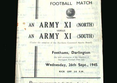 Army North v Army South 26.09.1945