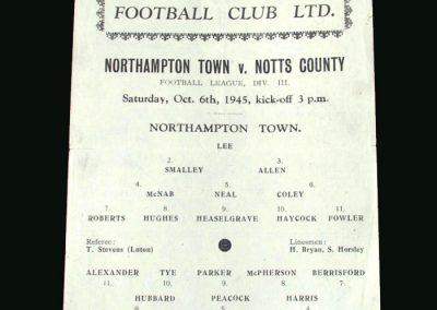 Northampton v Notts County 06.10.1945