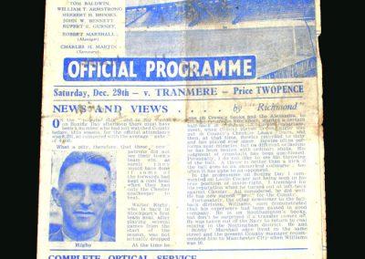 Stockport v Tranmere 29.12.1945