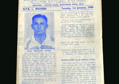 QPR v Watford 01.01.1946