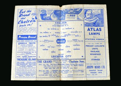 Chelsea v Leicester 05.01.1946 (FA Cup 3rd Round 1st Leg)
