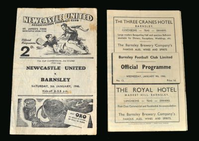 Newcastle v Barnsley 05.01.1946 (FA Cup 3rd Round 1st Leg)   Barnsley v Newcastle 09.01.1946 (FA Cup 3rd Round 2nd Leg)