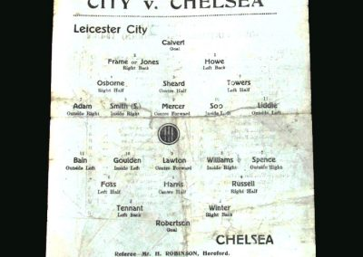 Leicester v Chelsea 10.01.1946 (FA Cup 3rd Round 2nd Leg)