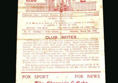 Northampton v Notts County 09.03.1946