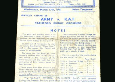Army v RAF 13.03.1946