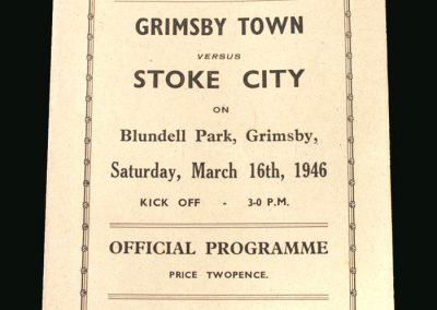 Grimsby v Stoke 16.03.1946
