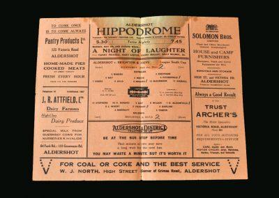 Aldershot v Brighton 04.05.1946