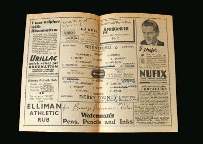Brentford v Derby 05.10.1946