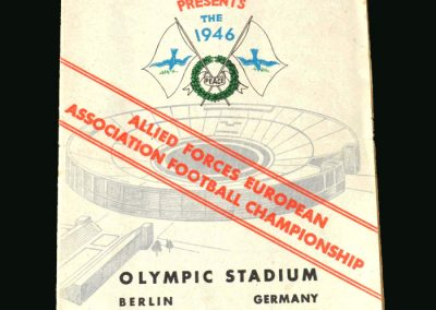 Czech Army v GB Army 03.11.1946 (in Berlin inter allies final)