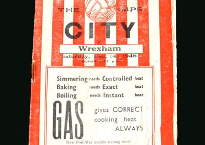 Lincoln v Wrexham 14.12.1946 (FA Cup 2nd Round)
