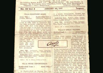 Villa v Derby 04.01.1947
