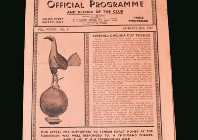Chelsea v Arsenal 20.01.1947 (FA Cup 2nd Replay)
