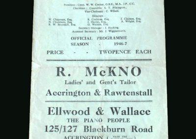 Accrington v Doncaster 01.02.1947