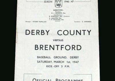 Derby v Brentford 01.03.1947
