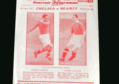 Hearts v Chelsea 21.04.1947 (Lawton)