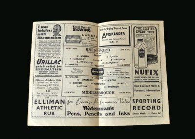 Brentford v Middlesbrough 26.04.1947
