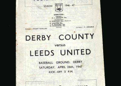 Derby v Leeds 26.04.1947