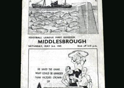 Grimsby v Middlesbrough 03.05.1947