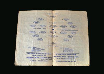England v Scotland 10.05.1947 (Schoolboys)